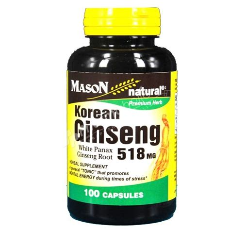 Korean Ginseng Tonic supplements korean ginseng 518 mg 100