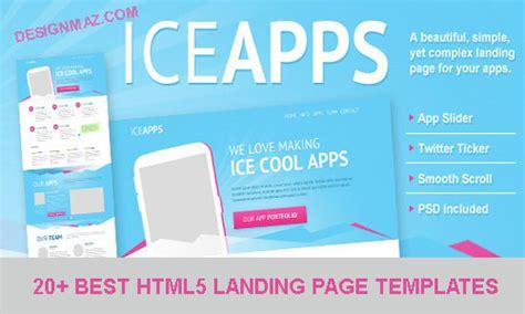 20 Best Html5 Landing Page Templates Designmaz Cool Landing Page Templates