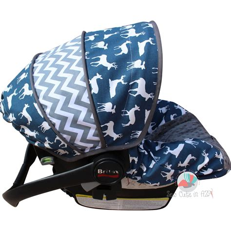 infant car seat slipcover infant car seat cover navy deer silhouette