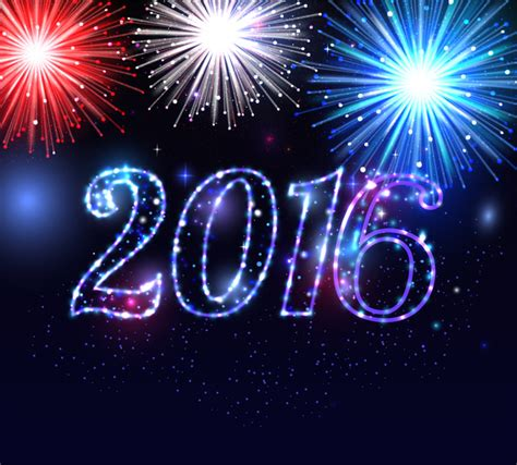 new year what year is 2016 2016 firework and happy new year free vector in adobe