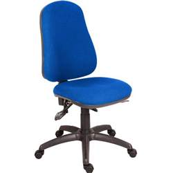 Office Chairs Without Arms Uk Ergo Plus 24 Hour Operator Chair Without Arms Blue Staples 174