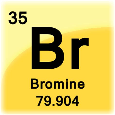 Periodic Table Br by Bromine Element Cell Science Notes And Projects