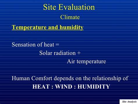 air temperature human comfort architectural professional practice site