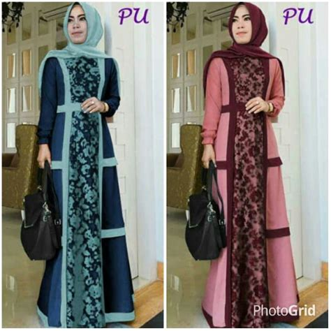 Baju Wanita Gamis Aleysa Jumbo Maxy Muslim Modern Modis Unik Cantik gamis modern nike brokat a233 baju muslim pesta