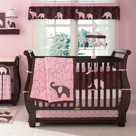girl elephant crib bedding carters pink elephant baby bedding collection baby