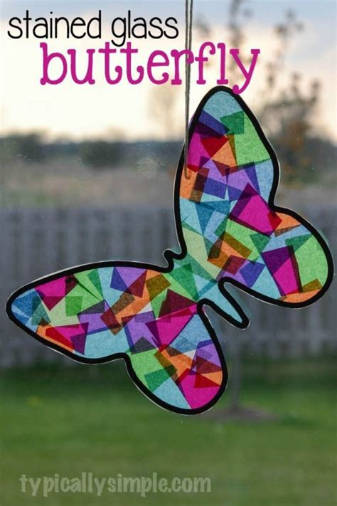 Construction Paper Butterfly Craft - 15 simple butterfly crafts cake ideas for diy