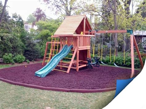mat for under swing set 32 best images about backyard playground for the boys on