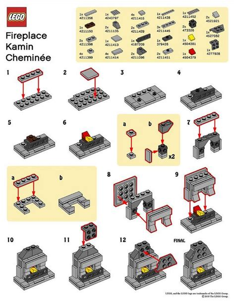 lego fireplace tutorial lego fireplaces and photos on pinterest