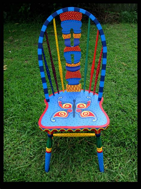painted chairs images butterfly chair full view by reincarnationsdotcom on