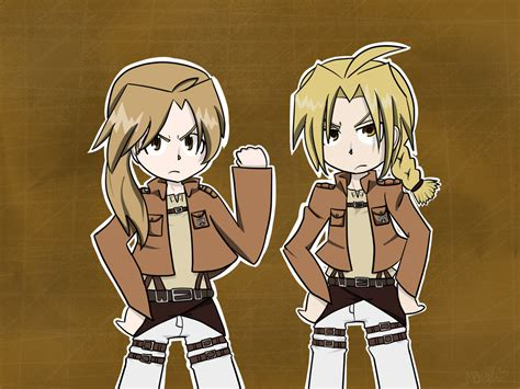 Recon Corps Anime the elrics as recon corps by makoshoku on deviantart