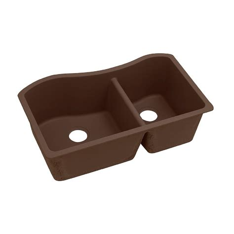 Elkay Quartz Classic Undermount Composite 33 In Double Classic Kitchen Sink