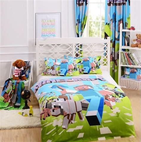 Minecraft Bed Sets 17 Best Images About My Lil S Room On Minecraft Bedding And Duvet Covers