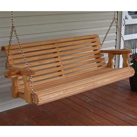 amish porch swing centerville amish heavy duty 700 lb roll back wooden swing