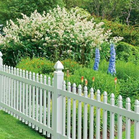 fence sections lowes shop gatehouse arborley 3 ft x 8 ft white gothic picket