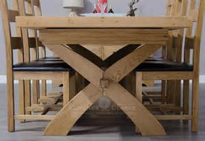 Oak Kitchen Furniture by Melford Oak X Leg Extending Dining Table Kitchen And