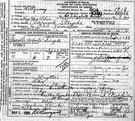 Dayton Ohio Marriage Records Tumbush The Spiraling Chains Schroeder Tumbush Family Trees
