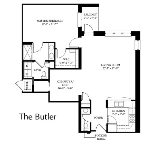 standard room sizes butler providence point
