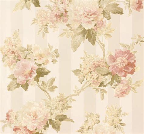 wallpaper green and cream wallpaper romantica flower cream green as 30446 1