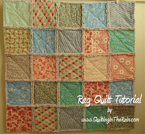 quilt tutorial videos rag quilt quilting in the rain