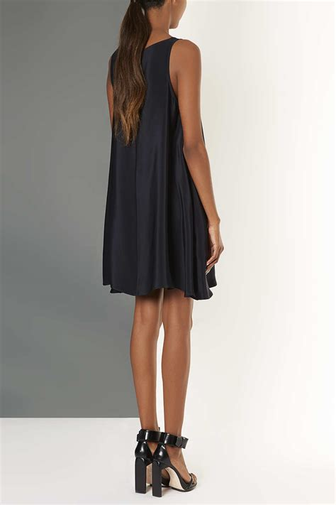silk swing dress topshop silk swing dress by boutique in blue lyst