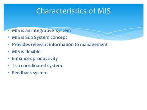 Benefit Of Change Mba To Ms In Mis by Types O F Information Systems