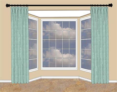 how to hang curtains on bay window bay windows picmia