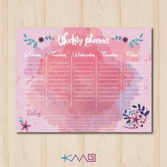 girly daily planner printable weekly hourly time management sheet financial