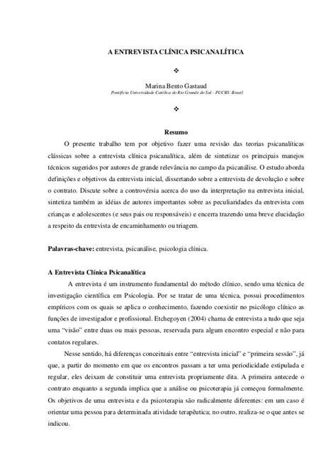 preguntas entrevista juridica a entrevista cl 205 nica psicanal 205 tica marina bento gastaud