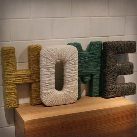 17 best ideas about yarn covered letters on pinterest