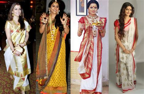 celebrity meaning bengali unusual saree draping styles indian fashion blog