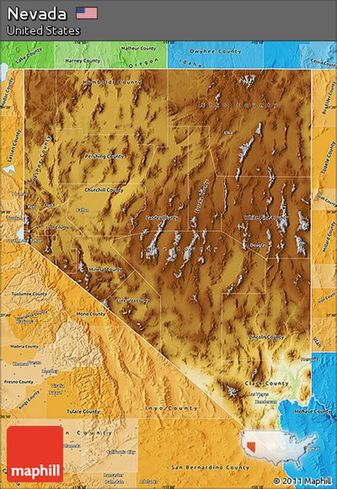 physical map of nevada free physical map of nevada political shades outside
