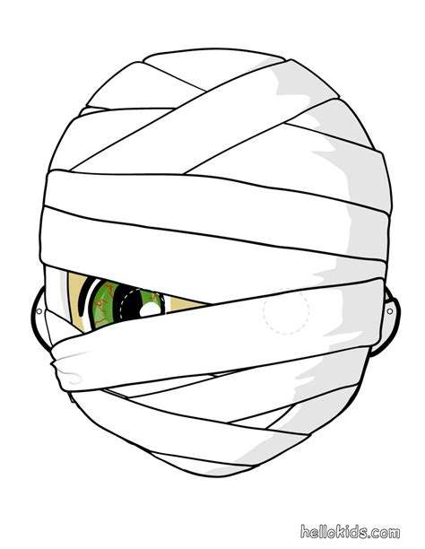 cyclops mask template how to craft mummy mask hellokids