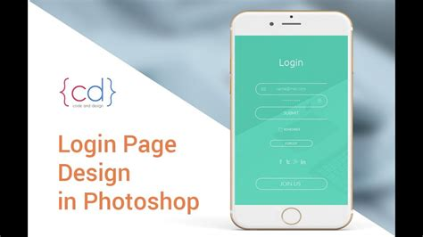 mobile login page ui design tutorial step by step in photoshop mobile app