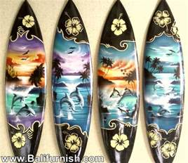 Wooden Decorations For Home surfboard wood handicrafts from bali indonesia