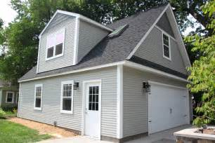 Dormer Addition Cost 2 Car 2 Story Garage Using Attic Trusses And Dormer