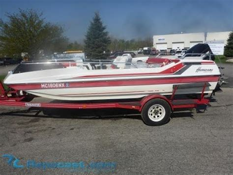 hurricane deck boat sales 1990 hurricane deck boat for sale online auction youtube