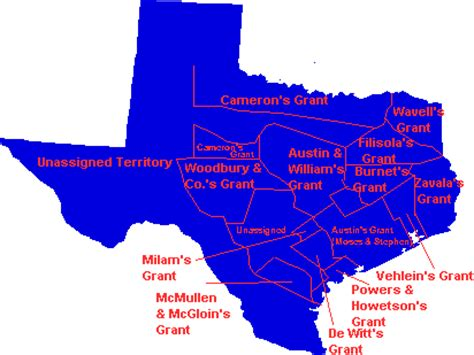 texas land grants map lonestar genealogy comprehensive texas history genealogy web site