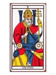 The Tarot Of Vyres Intl v the pope tarot card gicl 233 edruk bij allposters nl