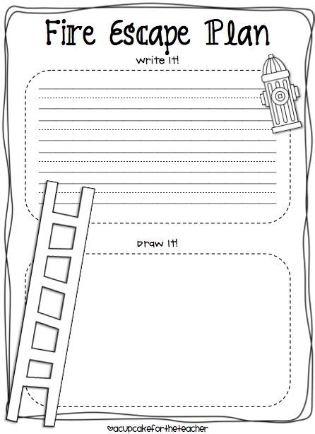 A Cupcake For The Teacher Fire Safety Plus A Freebie Tiger Safe And Smart Tiger Adventure Printable Escape Plan Template