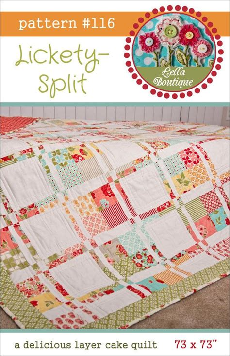 pattern split lickety split quilt pdf pattern