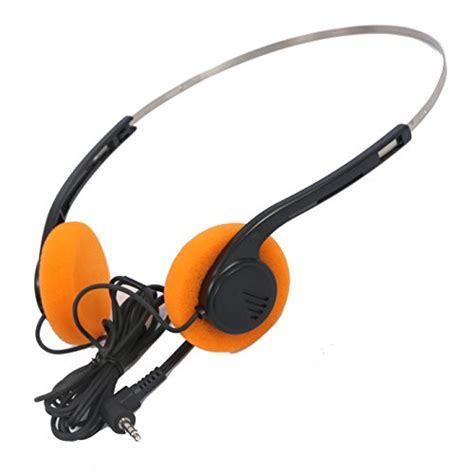 Headset Sony Walkman Invent Lord Style Walkman Hi Fi Stereo Earphone Headset Orange Ear Pad Ebay