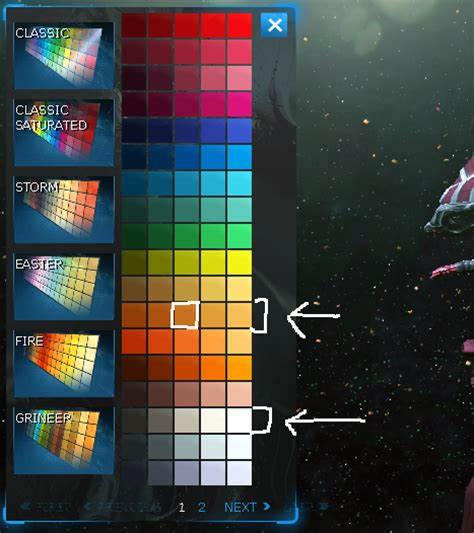 need help with finding some colors for frame warframe