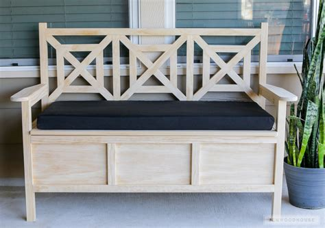 storage bench for outside how to build a diy outdoor storage bench