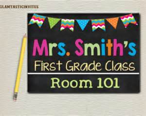 Classroom Door Signs Templates by Door Banner Etsy