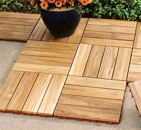 teak deck tiles contemporary outdoor products by gardener s supply company