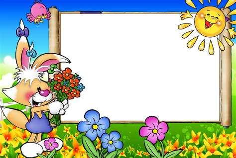 imagenes variadas infantiles marcos de fotos coloridos con dise 241 os infantiles en png 4