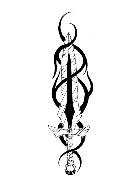 sword tattoos designs tribal sword clipart best