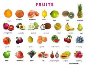Fruit and vegetables with pictures in pdf also a list of fruit and