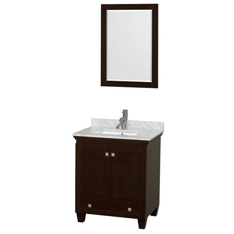 30 Inch White Bathroom Vanity Wyndham Collection Wcv800030sescmunsm24 Acclaim 30 Inch Single Bathroom Vanity In Espresso