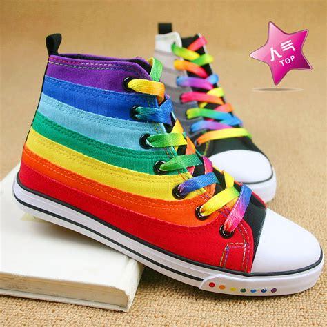 rainbow shoes rainbow sneakers rainbows photo 37463976 fanpop